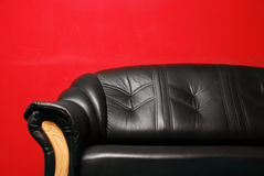 Black sofa Royalty Free Stock Photo
