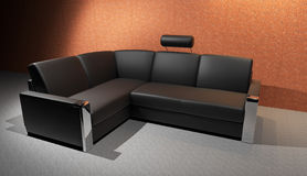 Black Sofa Stock Image