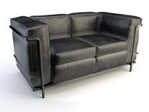 Black sofa Royalty Free Stock Image