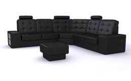 Black sofa Royalty Free Stock Photography