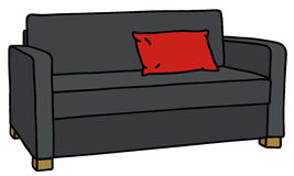 Black sofa Stock Photos