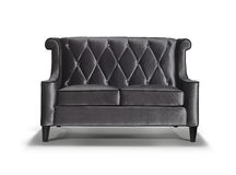Black sofa isolated. Image of a modern black sofa isolated on white background Stock Photo