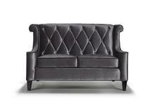 Black sofa isolated Stock Photo