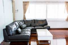 Black sofa in room Royalty Free Stock Photography
