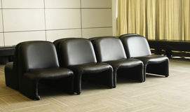 Black sofa Stock Images