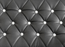 black sofa upholstery leather pattern background Royalty Free Stock Image