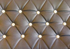 black sofa upholstery leather pattern background Stock Photography