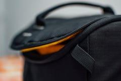 Black Soft Bag Royalty Free Stock Photos