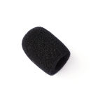 Black soft microphone tip isolated over white background Stock Images