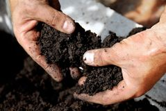 Black soil Royalty Free Stock Photos