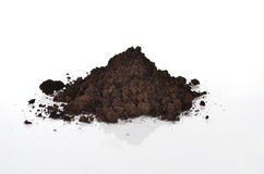Black soil with compost  Royalty Free Stock Photos