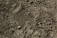Black Soil Dirt Background Texture, Natural Pattern. Black Dark Soil Dirt Background Texture, Natural Pattern. Flat Top View royalty free stock images