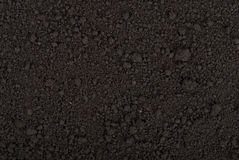 Black soil texture Royalty Free Stock Photo