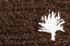 Black Soil Texture Background royalty free stock images