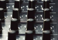 Black sound mixer controller Stock Image
