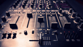 Black sound mixer controller Royalty Free Stock Image