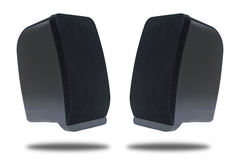 Black sound speaker isolated, Clipping path Royalty Free Stock Photography