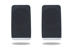 Black sound speaker isolated Royalty Free Stock Photo