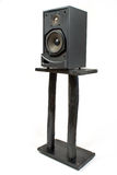 Black sound speaker on stand Stock Image