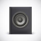 Black sound speaker Stock Image