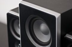 Black sound speakers Royalty Free Stock Image