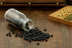 Black soya bean Stock Photos