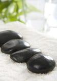 Black spa stenen Stock Afbeeldingen