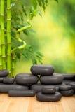 Black spa stones Stock Photography