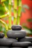 Black spa stones Stock Photo