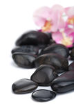 Black spa stones isolated. Over white Royalty Free Stock Photos