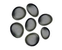 Black spa stones isolated on white Stock Image
