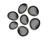 Black spa stones isolated on white Stock Photography