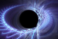 Black space hole royalty free stock image