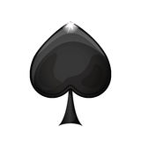 Black spade icon. Black spade casino icon over white background. vector illustration Stock Images