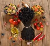 Black spaghetti Royalty Free Stock Image
