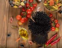 Black spaghetti Royalty Free Stock Photos