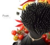 Black spaghetti Royalty Free Stock Images
