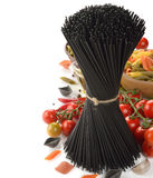 Black spaghetti Stock Image