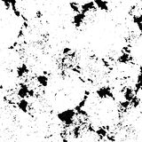 Black spattered background with blots and spots. Black ink vector texture Royalty Free Stock Photos