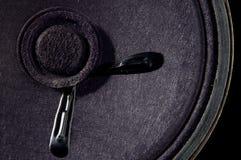 Black speaker. Close up of black speaker Stock Image
