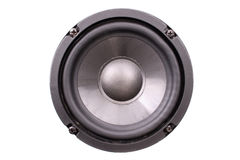 Black speaker front Royalty Free Stock Photos