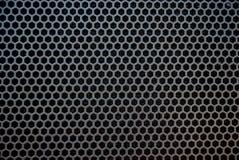 Black speaker grid texture. Royalty Free Stock Photos