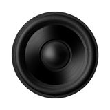 Black speaker, isolated on white background Stock Photography