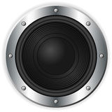 Black speaker over white Royalty Free Stock Image