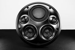 Black speaker. With various speakers inside Royalty Free Stock Photo