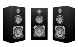 Black speaker white background Royalty Free Stock Images