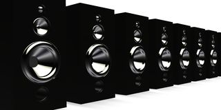 Black speakers Royalty Free Stock Photo