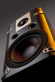 Black speakers Stock Images