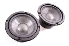 Black speakers Royalty Free Stock Image