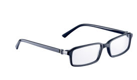 Black spectacles on white with path Stock Image